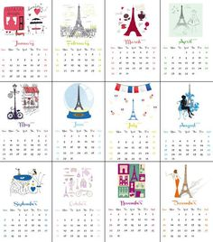 DIY: Printable Yearly Calendar 2015
