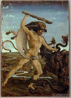 Antonio del Pollaiuolo - Hercules kills the Hydra