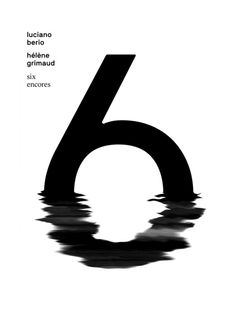 separat:   Six EncoresPoster about Luciano Berio's and Hélène Grimaud's piano composition by Fabian Fohrer