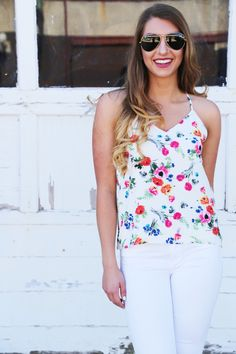 Oh, Watch Me Floral Tank - The Rage - 4