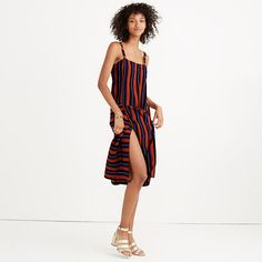 Madewell x Silk Patchwork Shift Dress in Multi-Stripe No 6, Madewell, Wrap Dress, Silk, Clothes, Dresses, Fashion, Scrappy Quilts, Outfits