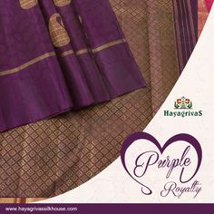 Become the talk of the town by wearing this rich ‪#‎violet‬, borderless ‪#‎silk‬ saree with gold zari mango motifs spread over the body and contrast ‪#‎green‬ blouse.  ‪#‎Silksarees‬ ‪#‎Weddingsilks‬ ‪#‎Traditionalsilks‬ Visit us: www.hayagrivassilkhouse.com Call us: 91 9840582892