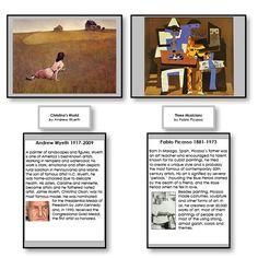 Montessori 123 - Famous Paintings with Artist Biographies Set 1 - Montessori Materials