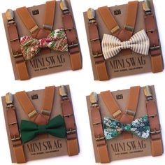 Christmas Bow Tie and Suspenders, Leather Suspenders, Holiday Outfit for Boys, Toddler Suspenders, Floral Bow Tie Set, Red Bowtie Suspenders, little boy fashion, cute kids clothes, family pictures outfits, Christmas outfit for toddlers, pictures with Santa