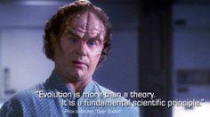 John Billingsley as Dr. Phlox on Enterprise.