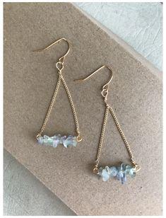 Fluorite handmade earrings #handmade #crystal #earrings Ear Jewelry, Crystal Jewelry, Jewelry Accessories, Jewelry Design, Jewelery, Cute Jewelry, Diy Jewelry To Sell, Handmade Wire Jewelry, Earrings Handmade