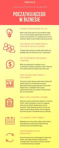 Błędy początkującego #infografka Self Development, Personal Development, Motivational Quotes, Inspirational Quotes, Business Company, Budgeting, Coaching, Life Hacks, Investing