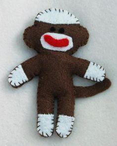 Felt Monkey ornament idea