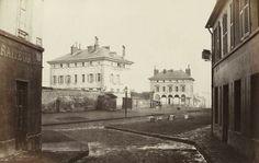 Paris XIII - Place d'Italie en 1859 - Les Pavillons d'Octroi du mur des Fermiers Généraux