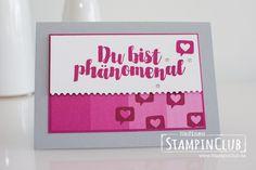 Stampin' Up!, StampinClub, Post mit PS, You're delightful, Designerpapier im Block Farbenspiel, Color Therapy DSP, Stanze Abreißkante, Ticket Tear Border Punch