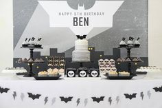 Love this Batman themed party by Sugar Coated Mama