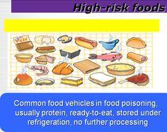 High Risk Foods Food Safety Training, Food Poisoning, High Risk, I Foods, Eat, Foodborne Illness