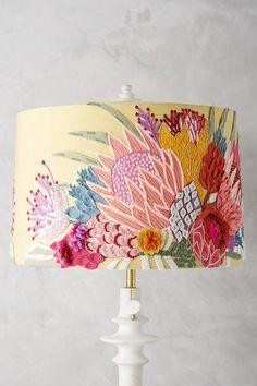Anthropologie Majorcan Garden Shade - crewelwork embroidery [ad]