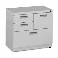 Great Openings Freestanding FileCenter - Box/Box/File/Lateral WL-X Pull Type: Square Front, Full Pull, Finish: Metallic Silver by Great Openings. $574.99. WLA0103666T Pull Type: Square Front, Full Pull, Finish: Metallic Silver Features: -Freestanding.-18 gauge inner frame, 20 - 22 gauge outer panels of cold rolled steel.-UM Series, black-faced, master-keyed, core removable lock.-Full extension steel ball bearing slides.-Safety interlock.-Two box drawers, one fil...
