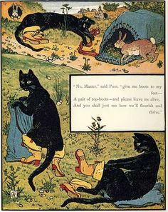 Walter Crane's illustration for Puss-in-Boots