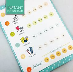 DAILY ROUTINE  MORNING  Chore Chart  Sticker by MadisonDesignShop, $3.75