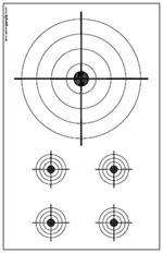 Download and Print PDF file of Smallbore Rifle Targets for shooting practice - 11 x 17 format