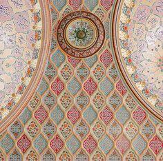 Interior ceiling detail, Jamia Masjid Ghausia, Multan, Pakistan.