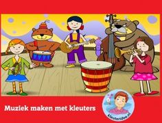 Muziek maken met kleuters op digibord of computer op kleuteridee.nl - Kindergarten educative game for IBW or computer Wolf, Drama, Preschool, Family Guy, Children, Fictional Characters, Theater, Kindergarten, Stage