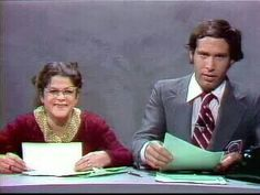 Gilda Radner and Chevy Chase ~ awesome SNL