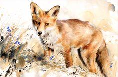 "Saatchi Online Artist Lucy Newton; Mixed Media, ""fox cub"" #art"