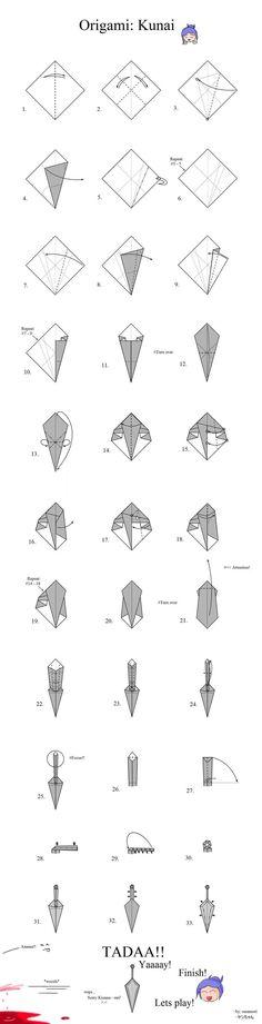 Origami kunai