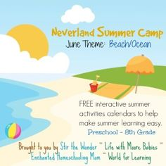 June Summer Learning Fun With The Neverland Summer Camp - Enchanted Homeschooling Mom