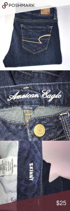 [American Eagle] Skinny Jeans Sz 2 American Eagle  Skinny jeans  Size 2 women's  Dark wash  Good condition American Eagle Outfitters Jeans Skinny