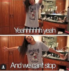 Lol Beth!!! Jamming out to Miley Cyrus!!! I would too we could have a dance party!!!:) -Sammie