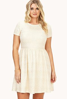 Festive Speckled Fit & Flare Dress. Hmm, your beloved Forever 21,but too pale?...and a wee bit plain