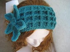 Ear warmer worked using Front post double crochet Stitches