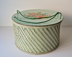 Vintage Wicker Sewing Basket by cynthiasattic on Etsy, $44.00
