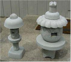 DIY Japanese Syle Lanterns using concrete and random plastic pieces like tupperware and plate, etc Concrete Cement, Concrete Projects, Garden Crafts, Garden Projects, Outdoor Pots, Outdoor Spaces, Japanese Stone Lanterns, Papercrete, Garden Lanterns