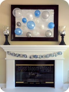 """Bubble Birthday Party...could also re-imagine this as a bridal shower theme """"So-and-so is about to POP!"""" So cute!"""