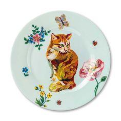 Natalie Lete Ginger Cat melamine plate
