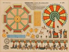 Round and round we go // Vintage paper carousel shown by Il favoloso mondo di…