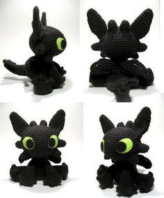 Patrón para hacer a Desdentado // Free crochet Toothless amigurumi pattern