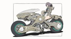 /r/CyberBooty collects art featuring hot cyberpunk, android, cybernetic, and mechanically enhanced chicks or all sorts. Futuristic Motorcycle, Motorcycle Art, Futuristic Cars, Art Cyberpunk, Pawer Rangers, Motorbike Design, Concept Motorcycles, Cool Stuff, Panzer