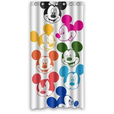 Disney Find  Colorful Retro Mickey Shower Curtain