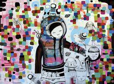 "Saatchi Online Artist ivana flores; Painting, ""recovered bunny"" #art"