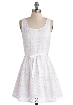 White Sand Beaches Dress. Luggage limits may make it impossible to take all of your favorite dresses on vacation. #white #modcloth