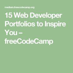 15 Web Developer Portfolios to Inspire You – freeCodeCamp