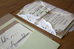 Rustic // Burlap & Lace Wedding Invitation by RusticEleganceDesign, $5.75