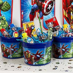 PARTY BAG - Avengers Party Ideas: Favors - Click to View Larger