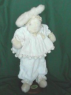 """BUNNIES BY THE BAY ~DOLLIE 18"""" TALL BUNNY RABBIT VINTAGE MADE IN AMERICA"""