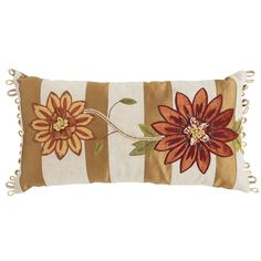 Sunset Floral Applique Pillow