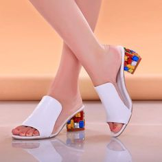 Rhinestone Peep Toe Heels Women Sandals Shoes Sexy Open Toe Wedge Slides Shoes Woman High Heels Sandals Platform Flip flops Plus  #makeup #fashion #purse #style #beautiful #beauty #outfitoftheday #stylish #styles #outfit #model #cute #hair #jewelry #jennifiers