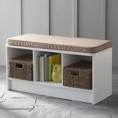 Closetmaid 3 Cube Bench White Basement Cube Storage