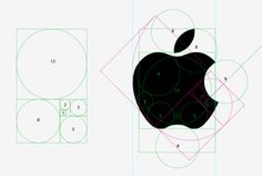 the golden spiral applied on Apple