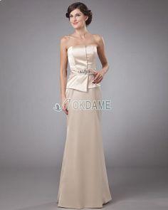 Natürliche Taile ärmellos trägerlos luxus Brautmutterkleid/ Abendkleid